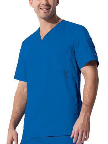 "Dickies ""Youtility"" Men's V-Neck Top 81822 Royal RYLZ"