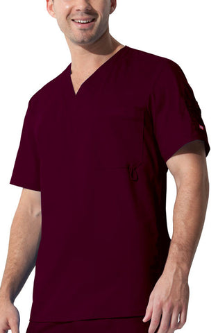 "Dickies ""Youtility"" Men's V-Neck Top 81822 D-Wine WINZ"
