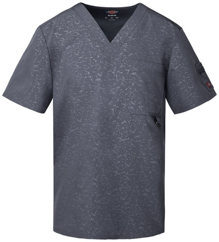 DICKIES MEN'S V-NECK TOP 81935 CAMO-KAZEE LT. PEWTER CAPR