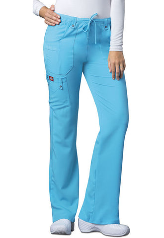 Dickies Mid Rise Drawstring Cargo Pant 82011 Icy Turquoise ITQZ