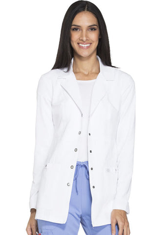 "Dickies 28"" Snap Front Lab Coat 82400 White DWHZ"