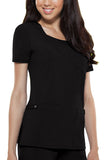 Dickies Mock Wrap Top 82814 Black BLKZ
