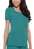Dickies Mock Wrap Top 82814 Teal DTLZ