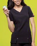 Dickies V-Neck Top 82851 Black BLKZ