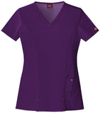 DICKIES V-NECK TOP 82851 EGGPLANT EGPZ