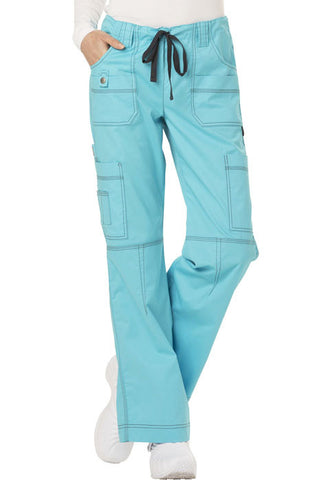 Dickies Low Rise Drawstring Cargo Pant  Tall 857455T Icy Turquoise ITQZ