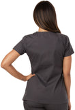 Dickies Mock Wrap Top 85820 Pewter PTWZ