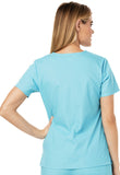 Dickies Mock Wrap Top 86806 Turquoise TQWZ