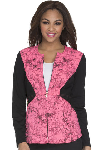 Careisma Zip Front Jacket CA304 Flower Fiesta FFTS