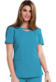 Careisma Round Neck Top CA602 Aqua Rush ARH
