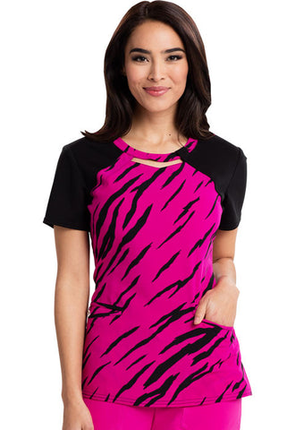 Careisma Round Neck Top CA606X3 Stay A Wild Hot Magenta STHM