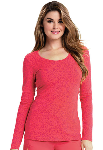 Careisma Long Sleeve Underscrub Knit Tee CA608X13 So Haute Icy Coral SHIY