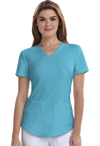Careisma Mock Wrap Top CA610A Aqua Rush ARH