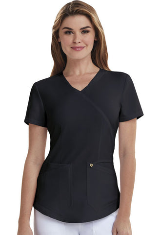 Careisma Mock Wrap Top CA610A Black BLK
