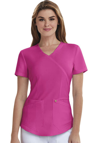 Careisma Mock Wrap Top CA610A Hot Magenta HMG