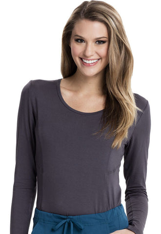 Careisma Long Sleeve Underscrub Knit Tee CA612A Pewter PWPS