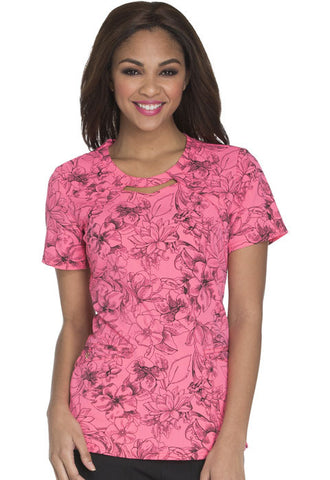 Careisma Round Neck Top CA616 Flower Fiesta FFTS