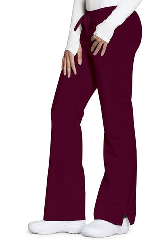 Code Happy Mid Rise Moderate Flare Leg Pant  Petite CH000AP Wine WIN