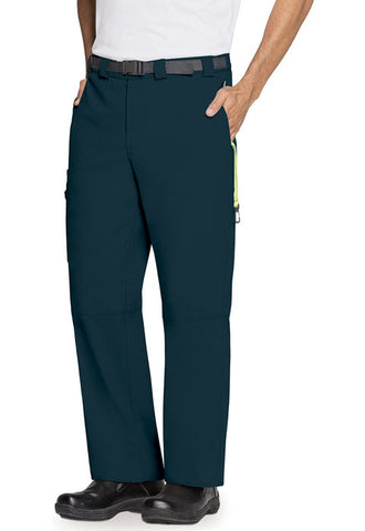 Code Happy Men's Zip Fly Front Pant CH205A Caribbean Blue CACH