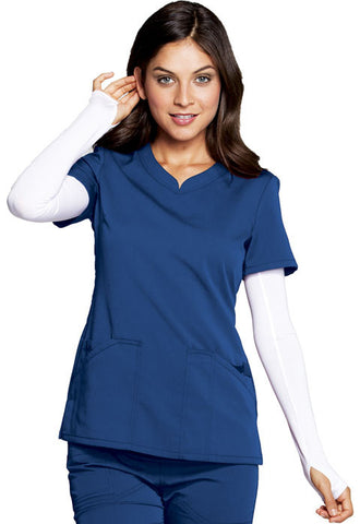 Code Happy V-Neck Top CH602A Royal ROYH
