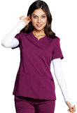 Code Happy V-Neck Top CH602A Wine WIN
