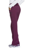 Cherokee Mid Rise Straight Leg Pull-on Pant CK002 Wine WIN