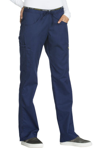 Cherokee Mid Rise Straight Leg Pull-on Pant  Petite CK003P Navy NAVV