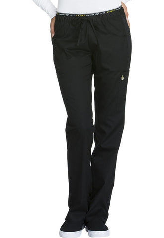 Cherokee Mid Rise Straight Leg Pull-on Pant  Tall CK003T Black BLKV