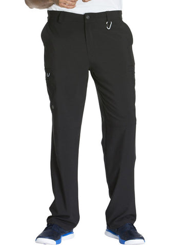 Cherokee Men's Fly Front Pant  Short CK200AS Black BAPS