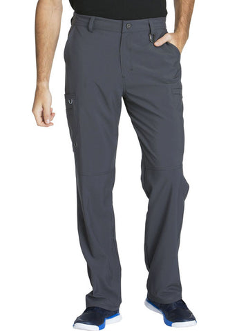 Cherokee Men's Fly Front Pant  Short CK200AS Pewter PWPS
