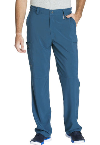 Cherokee Men's Fly Front Pant  Tall CK200AT Caribbean Blue CAPS