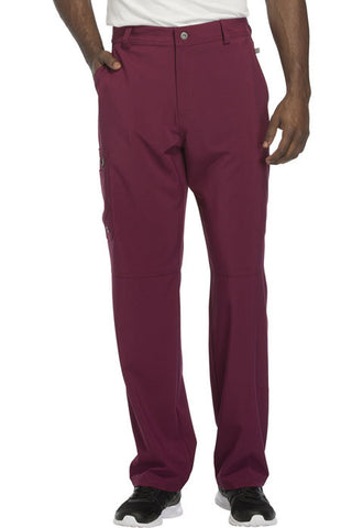 Cherokee Men's Fly Front Pant  Tall CK200AT Wine WNPS