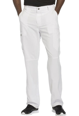 Cherokee Men's Fly Front Pant  Tall CK200AT White WTPS