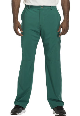 Cherokee Men's Fly Front Pant CK200A Hunter Green HNPS
