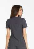 Cherokee V-Neck Knit Panel Top CK605 Pewter PWT