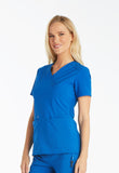 Cherokee Mock Wrap Knit Panel Top CK619 Royal ROY