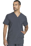 Cherokee Men's V-Neck Top CK900A Pewter PWPS