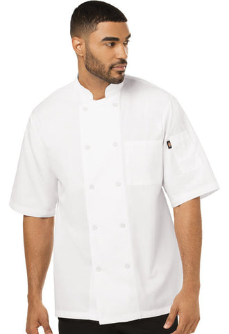 Dickies Chef Unisex Cool Breeze Chef Coat DC412 White WHT