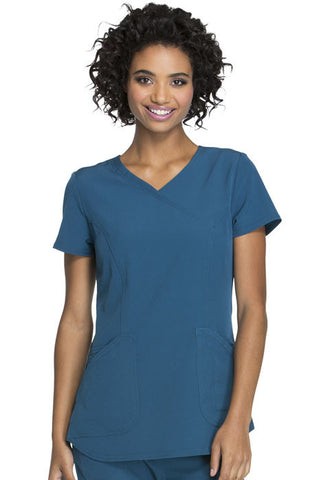 "HeartSoul ""Cross My Heart"" Mock Wrap Top HS619 Caribbean Blue CABH"
