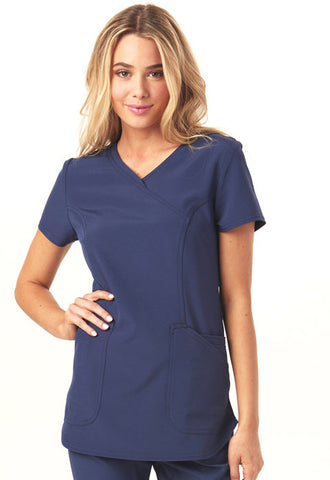 "HeartSoul ""Cross My Heart"" Mock Wrap Top HS619 Navy NAYH"