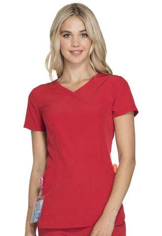 "HeartSoul ""Cross My Heart"" Mock Wrap Top HS619 Red RDHH"