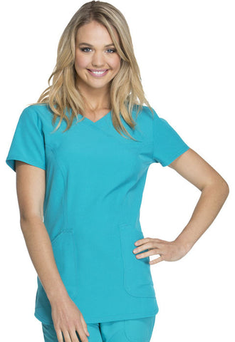 "HeartSoul ""Cross My Heart"" Mock Wrap Top HS619 Teal Blue TEAH"