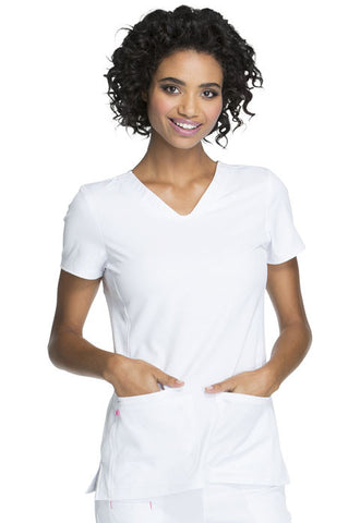 "HeartSoul ""Beat of My Heart"" V-Neck Top HS627 Beat Of My Heart White BTWH"
