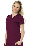 "HeartSoul ""Heart Zips A Beat"" V-Neck Top HS650 Wine WINH"