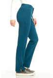 "Sapphire ""Roma"" Low Rise Zip Fly Slim Pant  Petite SA101AP Caribbean Blue CAR"