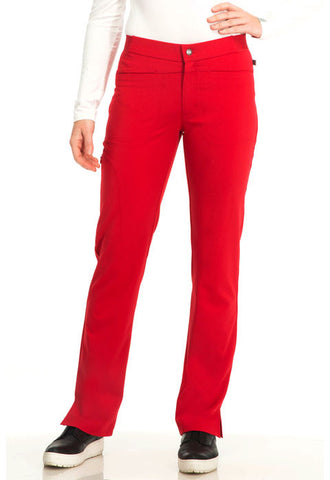 "Sapphire ""Roma"" Low Rise Zip Fly Slim Pant  Petite SA101AP Ruby Red RRDS"
