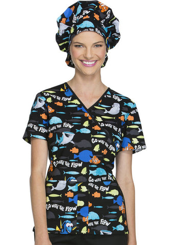 Tooniforms Bouffant Scrub Hat TF599 Go With The Flow FNOW