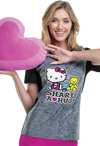 Tooniforms V-Neck Top TF602XB6 Hello Kitty Share HKET