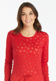 Tooniforms Long Sleeve Underscrub Knit Tee TF621 Ears Mickey Red MKER