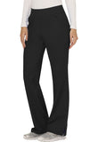 Cherokee Workwear Mid Rise Straight Leg Pull-on Pant  Petite WW110P Black BLK